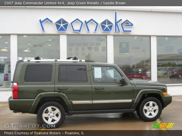 jeep green metallic 2007 jeep commander limited 4x4. Black Bedroom Furniture Sets. Home Design Ideas