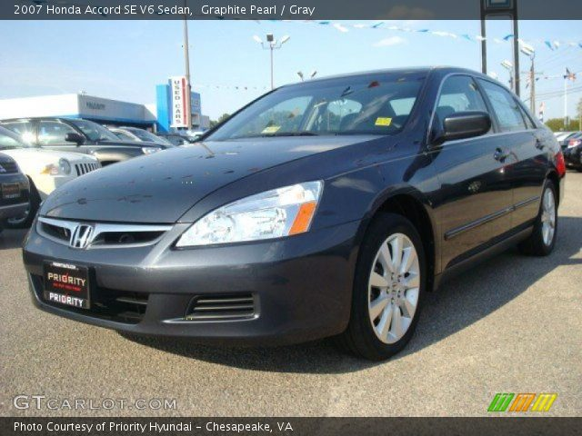 graphite pearl 2007 honda accord se v6 sedan gray interior vehicle archive. Black Bedroom Furniture Sets. Home Design Ideas