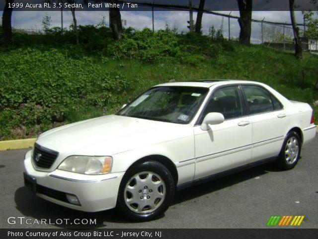 pearl white 1999 acura rl 3 5 sedan tan interior. Black Bedroom Furniture Sets. Home Design Ideas