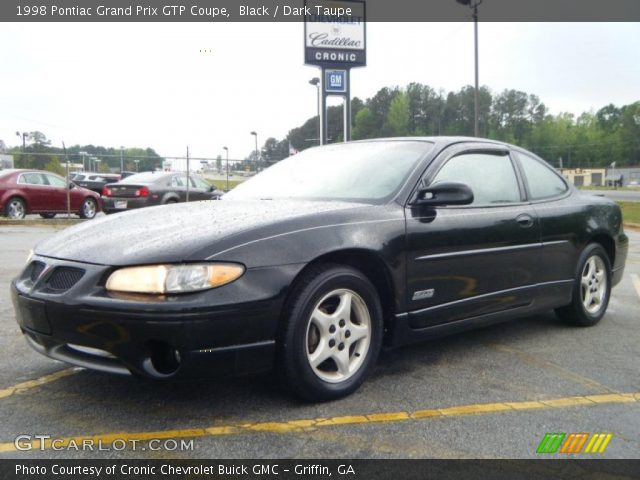 black 1998 pontiac grand prix gtp coupe dark taupe interior vehicle archive. Black Bedroom Furniture Sets. Home Design Ideas