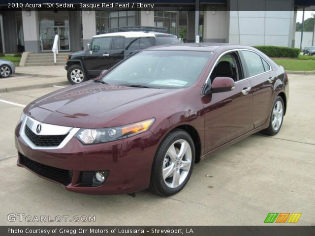 basque red pearl 2010 acura tsx sedan ebony interior. Black Bedroom Furniture Sets. Home Design Ideas