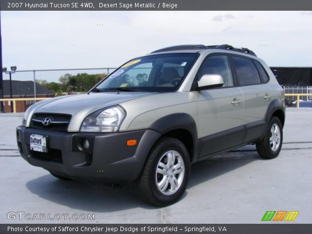 desert sage metallic 2007 hyundai tucson se 4wd beige. Black Bedroom Furniture Sets. Home Design Ideas