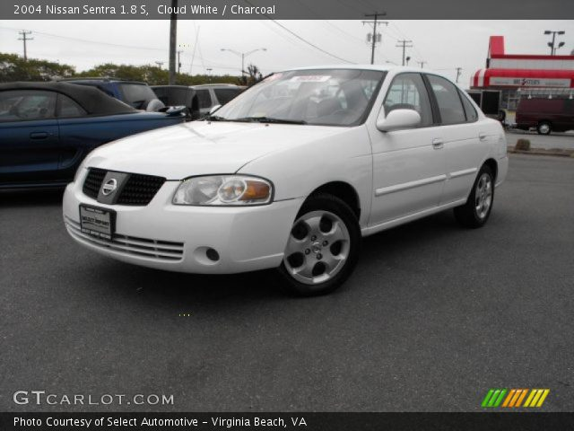 Cloud White 2004 Nissan Sentra 18 S Charcoal Interior