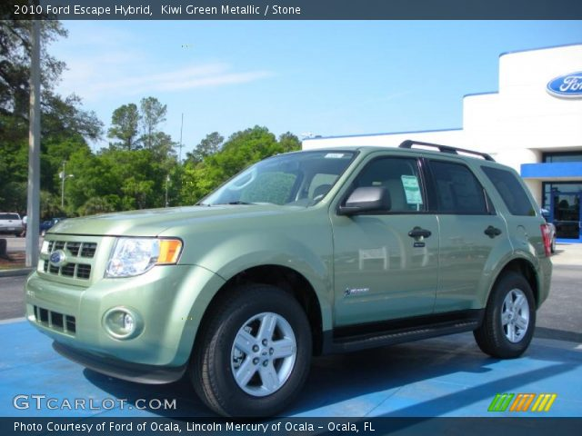 2010 Ford Escape Hybrid in Kiwi Green Metallic