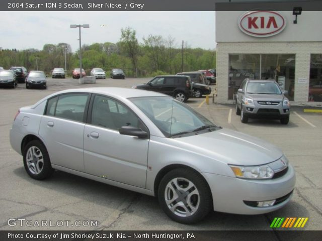 Silver Nickel 2004 Saturn Ion 3 Sedan Grey Interior Gtcarlot