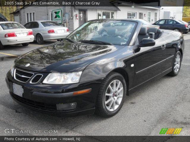 black 2005 saab 9 3 arc convertible charcoal gray interior vehicle archive. Black Bedroom Furniture Sets. Home Design Ideas