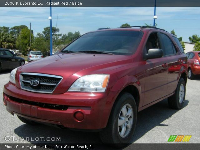 radiant red 2006 kia sorento lx beige interior. Black Bedroom Furniture Sets. Home Design Ideas
