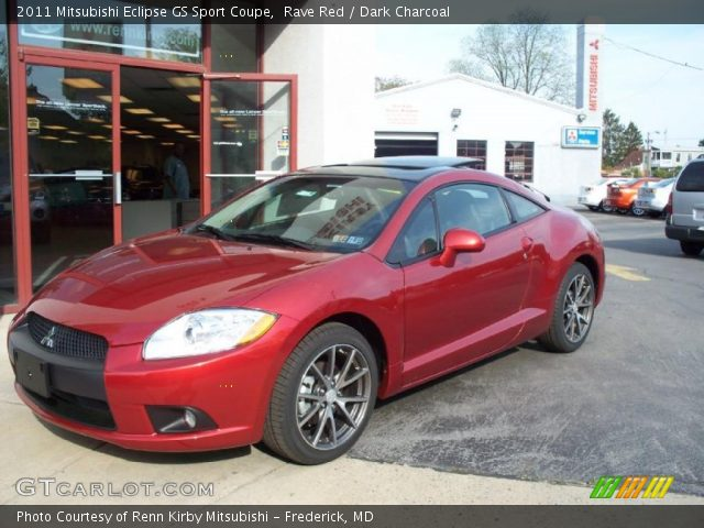 rave red 2011 mitsubishi eclipse gs sport coupe dark charcoal interior. Black Bedroom Furniture Sets. Home Design Ideas