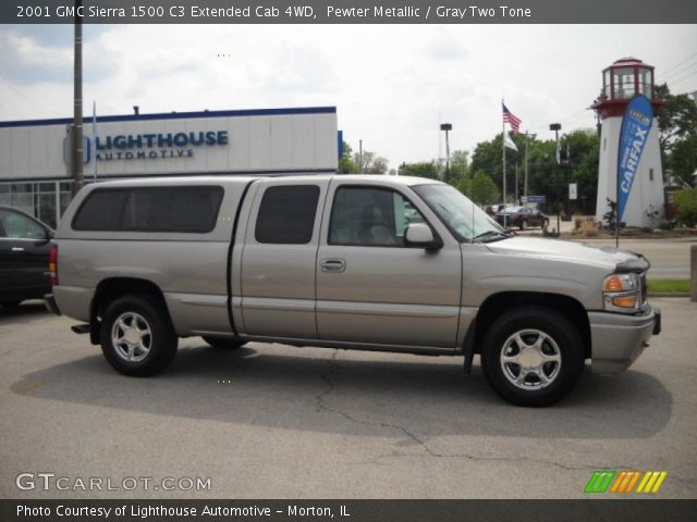 2001 GMC Sierra 1500 C3 Extended Cab 4WD in Pewter Metallic