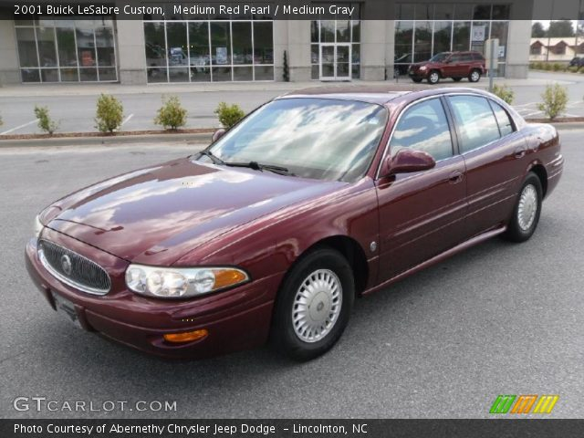 medium red pearl 2001 buick lesabre custom medium gray interior vehicle. Black Bedroom Furniture Sets. Home Design Ideas