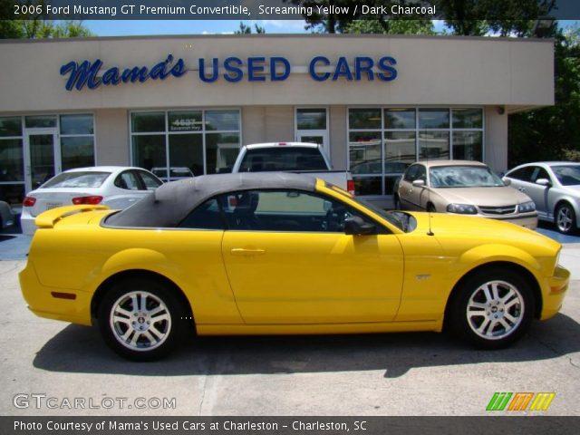 Screaming Yellow 2006 Ford Mustang Gt Premium
