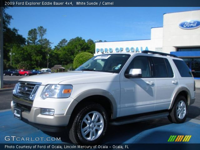 white suede 2009 ford explorer eddie bauer 4x4 camel interior vehicle. Black Bedroom Furniture Sets. Home Design Ideas