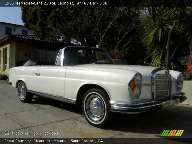 1965 Mercedes-Benz 220 SE Cabriolet in White