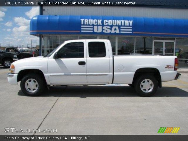 summit white 2003 gmc sierra 1500 sle extended cab 4x4. Black Bedroom Furniture Sets. Home Design Ideas