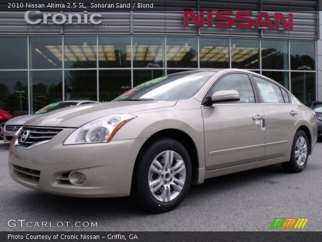sonoran sand 2010 nissan altima 2 5 sl blond interior vehicle archive 29137792. Black Bedroom Furniture Sets. Home Design Ideas
