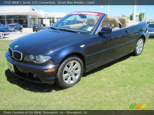 2005 BMW 3 Series 325i Convertible in Orient Blue Metallic