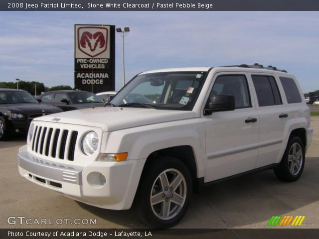 stone white clearcoat 2008 jeep patriot limited pastel. Black Bedroom Furniture Sets. Home Design Ideas