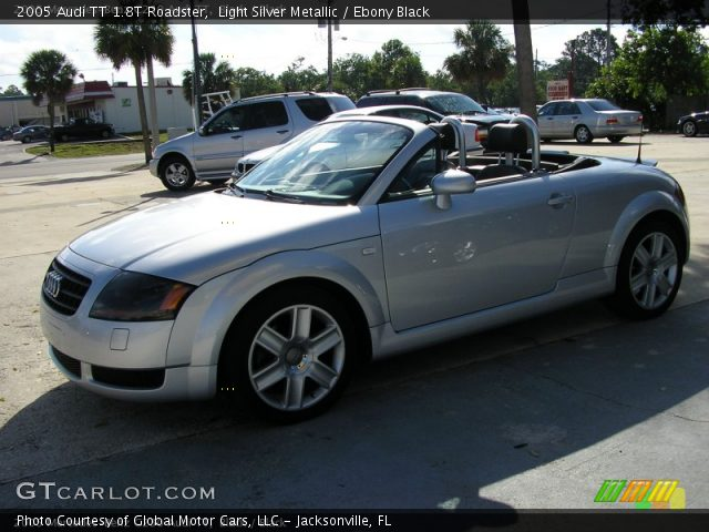Light Silver Metallic 2005 Audi TT 1.8T Roadster with Ebony Black interior