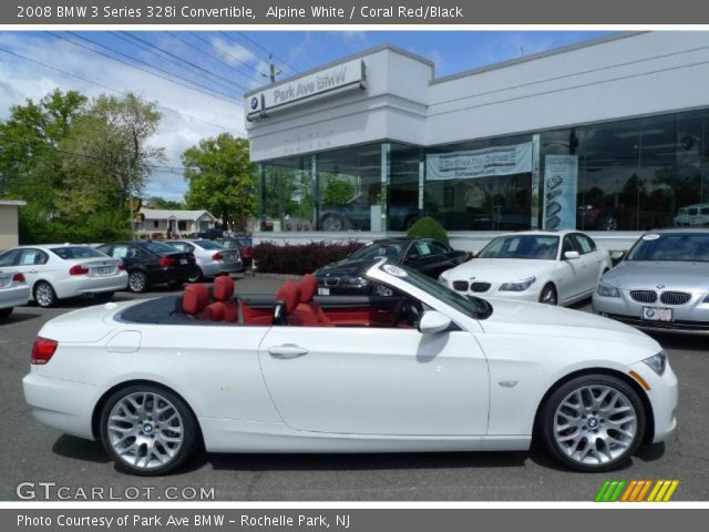 Alpine White 2008 Bmw 3 Series 328i Convertible Coral Red Black Interior