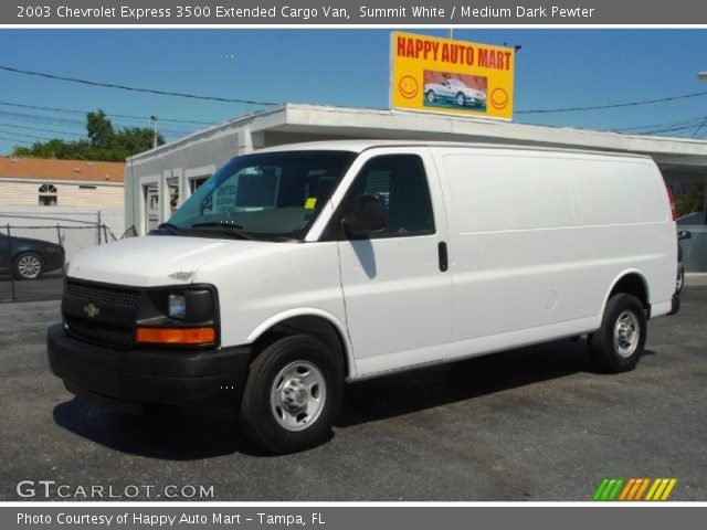 Summit White 2003 Chevrolet Express 3500 Extended Cargo