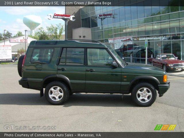 Epsom Green 2001 Land Rover Discovery Ii Se Bahama Beige Interior Vehicle