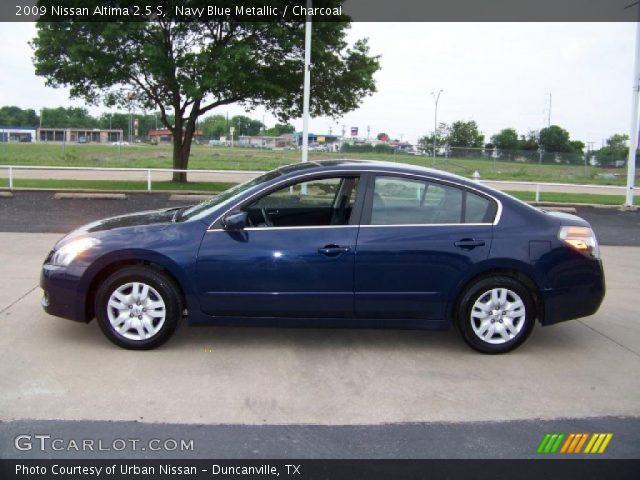 Navy Blue Metallic 2009 Nissan Altima 2 5 S Charcoal