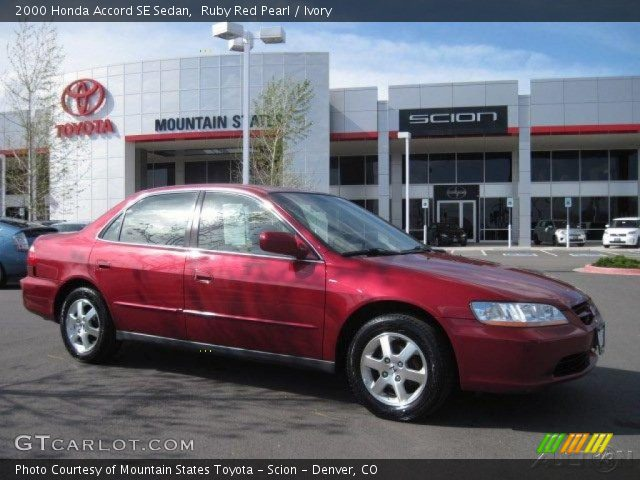 2000 Honda Accord SE Sedan in Ruby Red Pearl