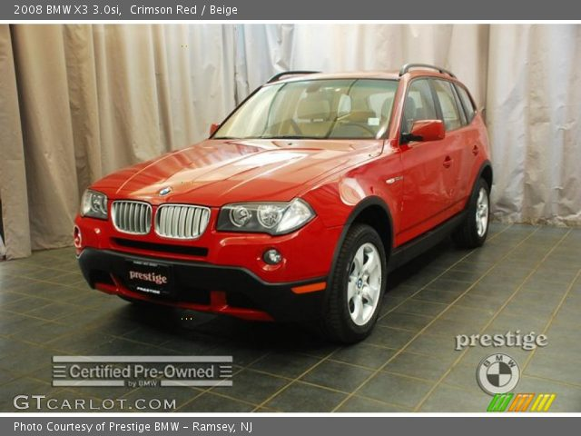 2008 BMW X3 30si In Crimson Red