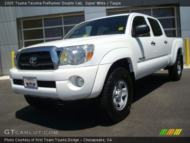 super white 2005 toyota tacoma prerunner double cab taupe interior vehicle. Black Bedroom Furniture Sets. Home Design Ideas