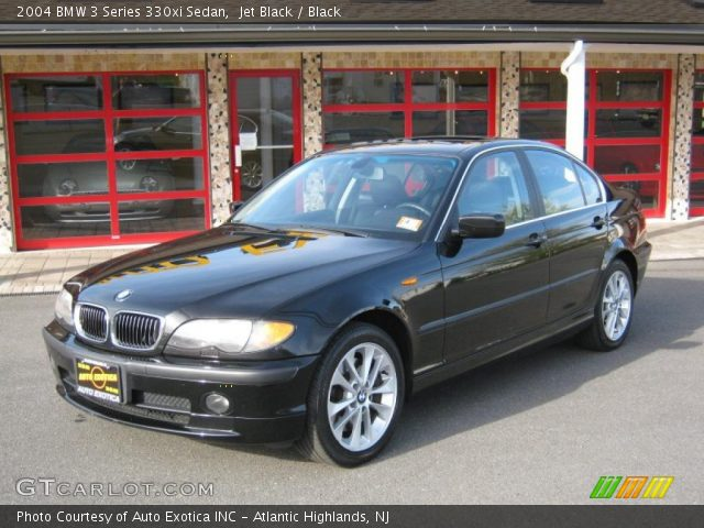jet black 2004 bmw 3 series 330xi sedan black interior. Black Bedroom Furniture Sets. Home Design Ideas
