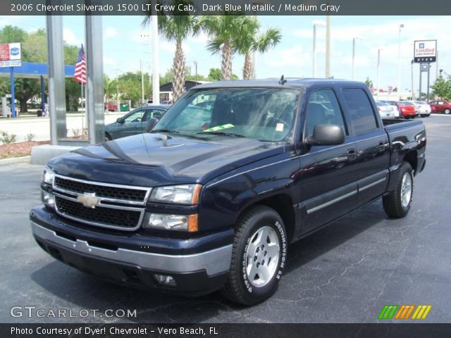 dark blue metallic 2006 chevrolet silverado 1500 lt crew cab medium gray interior gtcarlot. Black Bedroom Furniture Sets. Home Design Ideas