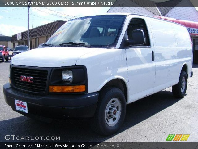 summit white 2008 gmc savana van 3500 cargo neutral. Black Bedroom Furniture Sets. Home Design Ideas