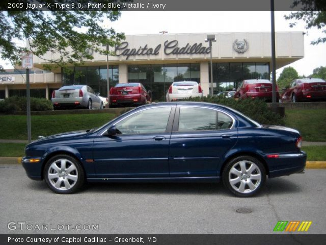 pacific blue metallic 2005 jaguar x type 3 0 ivory interior vehicle archive. Black Bedroom Furniture Sets. Home Design Ideas