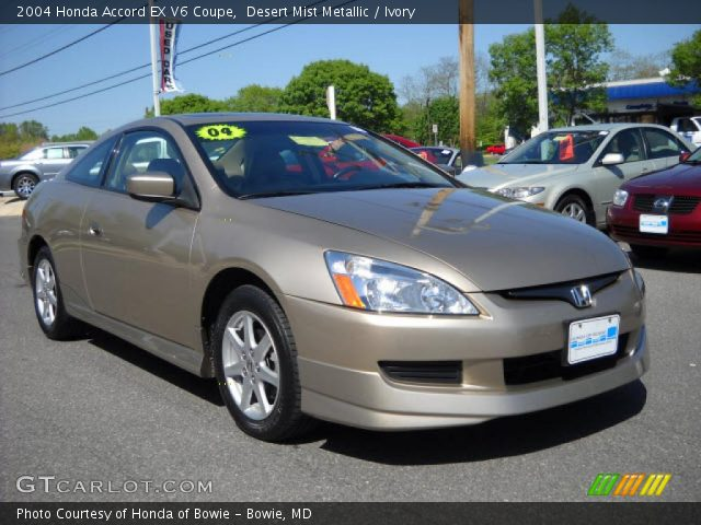 2004 Honda Accord EX V6 Coupe in Desert Mist Metallic