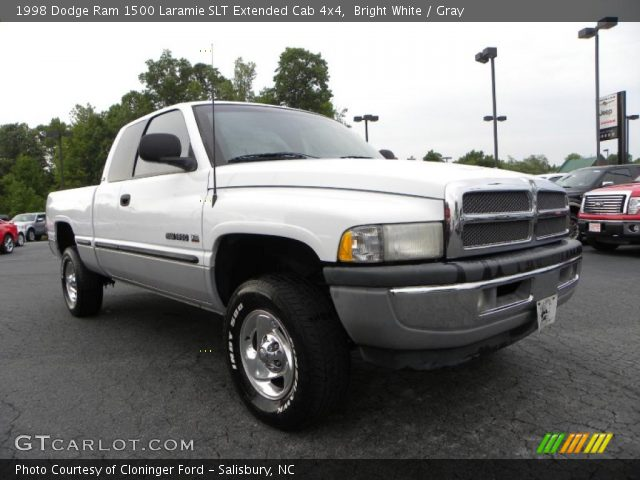 bright white 1998 dodge ram 1500 laramie slt extended cab 4x4 gray interior. Black Bedroom Furniture Sets. Home Design Ideas