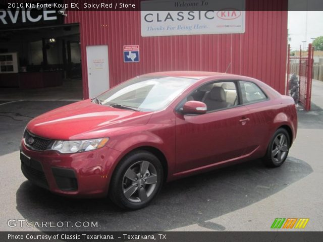 spicy red 2010 kia forte koup ex stone interior vehicle archive 29439161. Black Bedroom Furniture Sets. Home Design Ideas