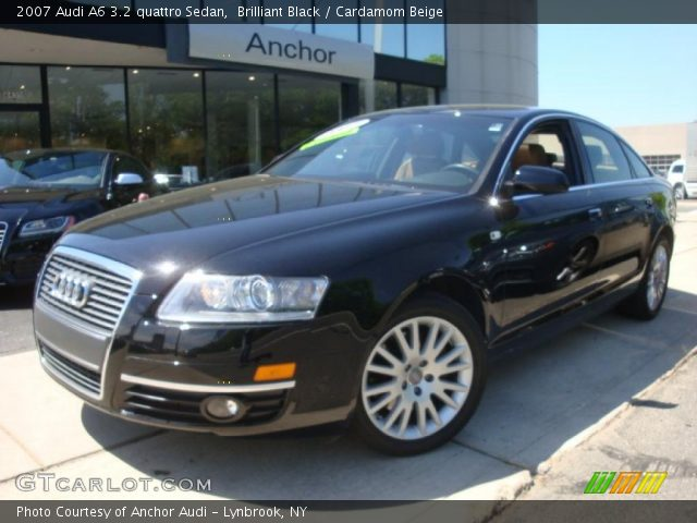 brilliant black 2007 audi a6 3 2 quattro sedan cardamom beige interior. Black Bedroom Furniture Sets. Home Design Ideas