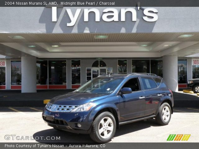 midnight blue pearl 2004 nissan murano sl awd charcoal interior vehicle. Black Bedroom Furniture Sets. Home Design Ideas