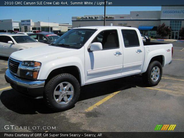 summit white 2010 gmc canyon sle crew cab 4x4 light tan interior vehicle. Black Bedroom Furniture Sets. Home Design Ideas