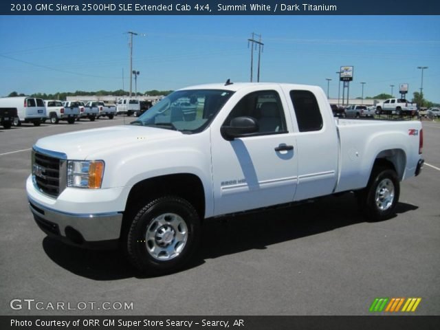 summit white 2010 gmc sierra 2500hd sle extended cab 4x4. Black Bedroom Furniture Sets. Home Design Ideas
