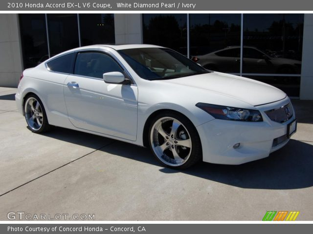 white diamond pearl 2010 honda accord ex l v6 coupe. Black Bedroom Furniture Sets. Home Design Ideas