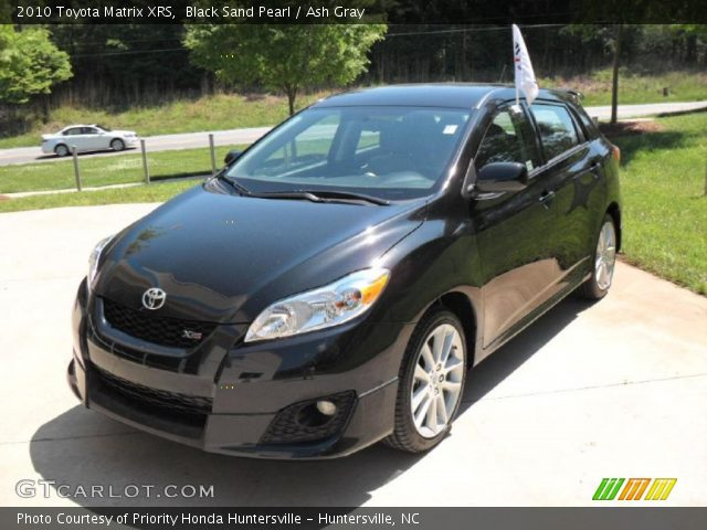 2010 Toyota Matrix XRS in Black Sand Pearl. Click to see large photo.