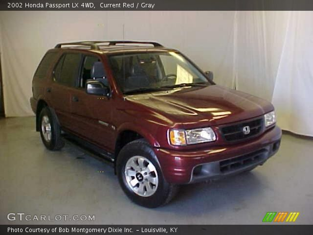 current red 2002 honda passport lx 4wd gray interior. Black Bedroom Furniture Sets. Home Design Ideas
