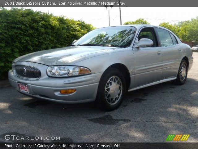 sterling silver metallic 2001 buick lesabre custom medium gray interior. Black Bedroom Furniture Sets. Home Design Ideas
