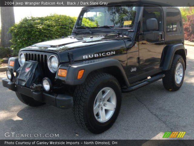 black 2004 jeep wrangler rubicon 4x4 dark slate gray. Black Bedroom Furniture Sets. Home Design Ideas