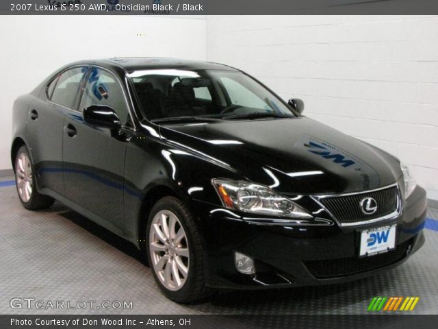 obsidian black 2007 lexus is 250 awd black interior vehicle archive 29669206. Black Bedroom Furniture Sets. Home Design Ideas