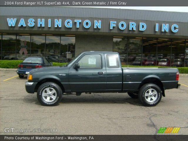 dark green metallic 2004 ford ranger xlt supercab 4x4 flint gray interior. Black Bedroom Furniture Sets. Home Design Ideas