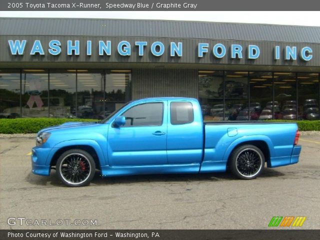 speedway blue 2005 toyota tacoma x runner graphite gray interior vehicle. Black Bedroom Furniture Sets. Home Design Ideas