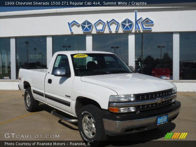 summit white 1999 chevrolet silverado 1500 z71 regular cab 4x4 graphite interior gtcarlot. Black Bedroom Furniture Sets. Home Design Ideas