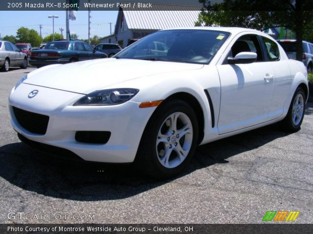 whitewater pearl 2005 mazda rx 8 sport black interior vehicle archive 29762077. Black Bedroom Furniture Sets. Home Design Ideas